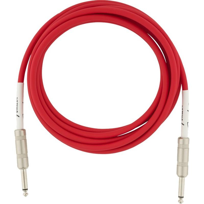 FENDER Original Series Instrument Cable 10' Fiesta Red - CAVO JACK PER CHITARRA ROSSO 3 MT.