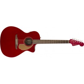 FENDER Newporter Player WN Candy Apple Red - CHITARRA ACUSTICA ELETTRIFICATA ROSSA