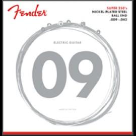 FENDER 250L Super 250 Guitar Strings Nickel Plated Steel (ball end)