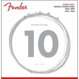 FENDER SUPER 250R NPS NICKEL PLATED STEEL - MUTA DI CORDE PER CHITARRA ELETTRICA NICKEL PLATED STEEL 010-046